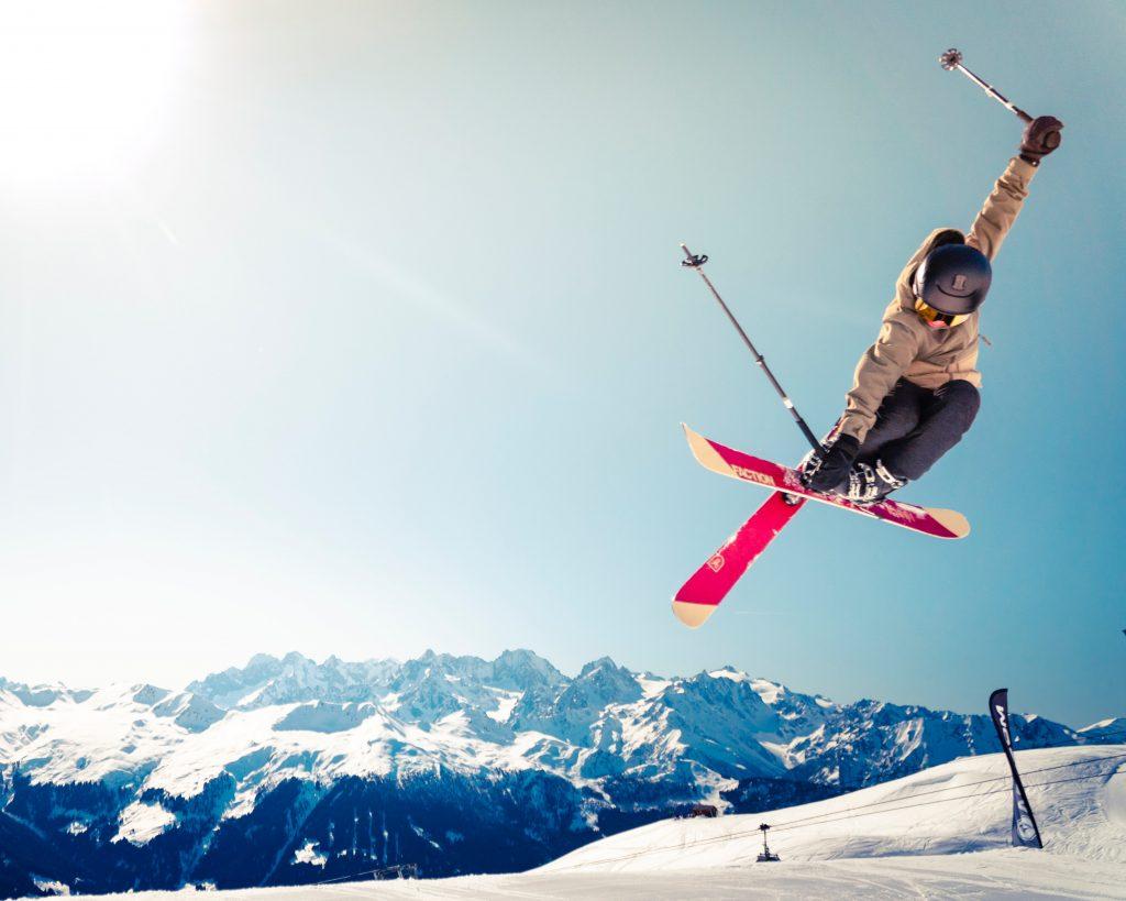 Skiing and ski jumping