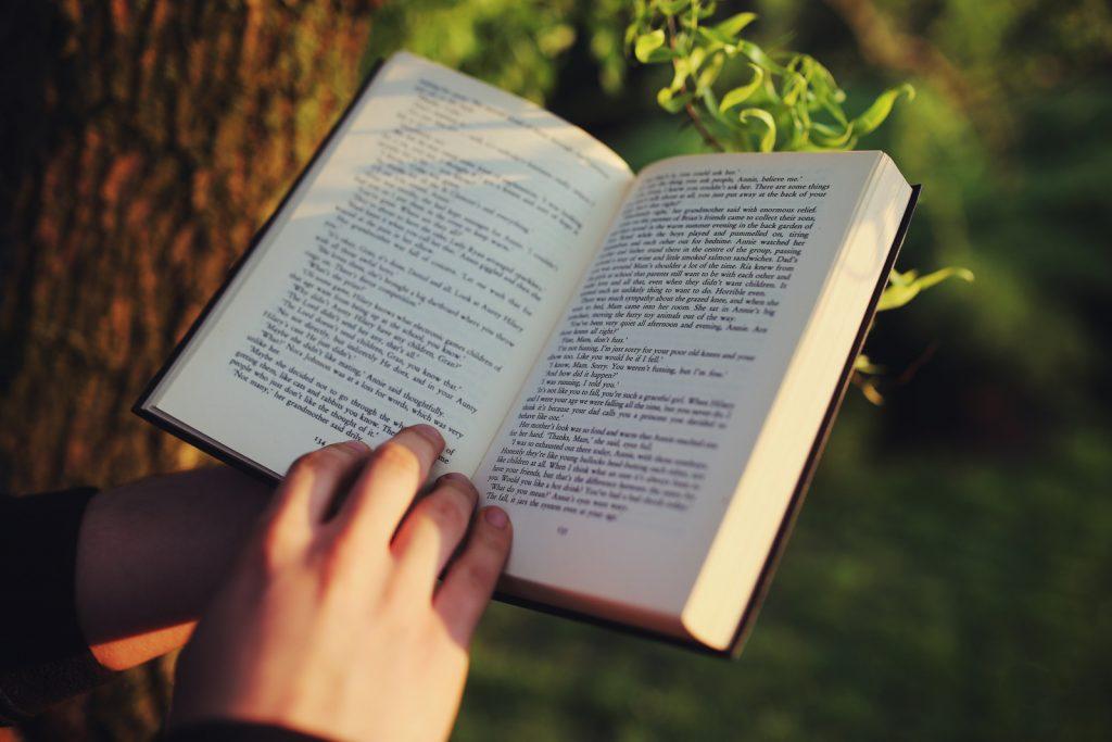 Reading a book, free hobby idea