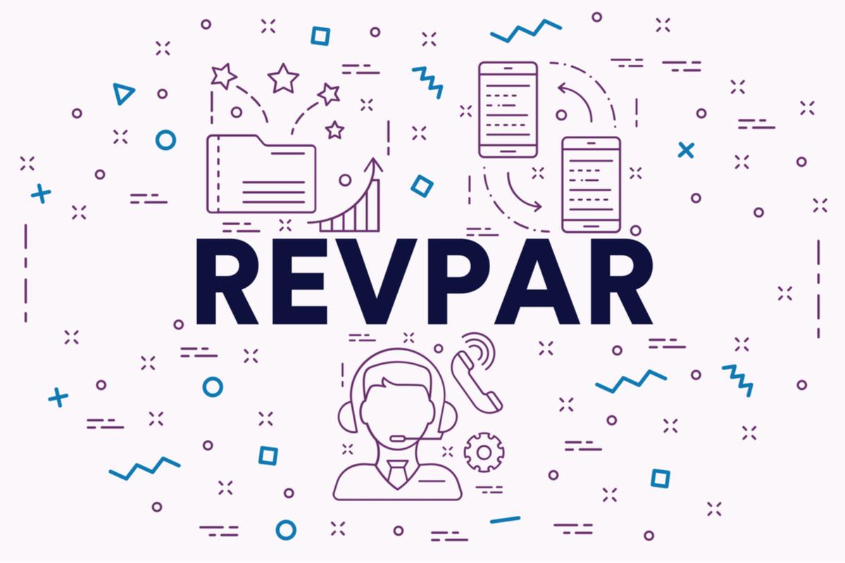 An illustration of the word REVPAR.