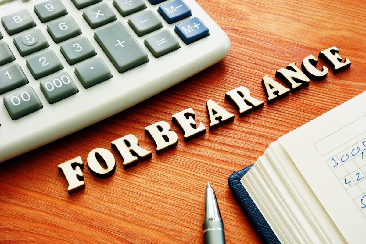 """The word """"forbearance"""" in wodden blocks on a desktop."""